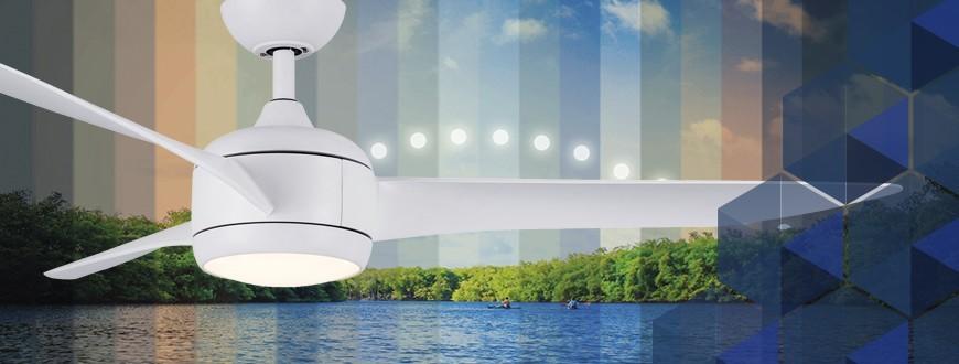 Ventiladores de techo con luz y cambio de temperatura de color
